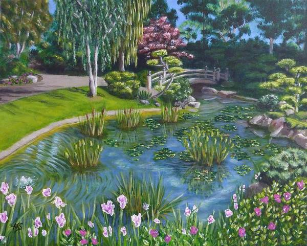 Painting - Japanese Garden by Amelie Simmons
