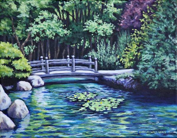 Painting - Japanese Garden Bridge San Francisco California by Penny Birch-Williams