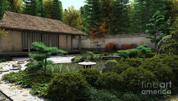 Granite Digital Art - Japanese Garden by Fairy Fantasies