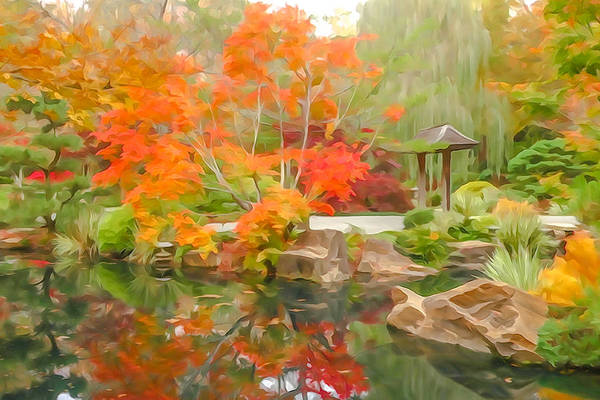 Photograph - Japanese Garden Impression 1 by Tom and Pat Cory