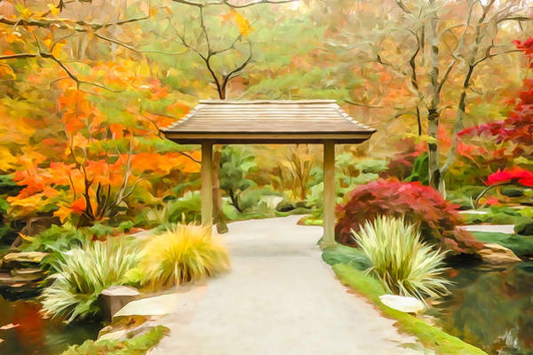 Photograph - Japanese Garden Impression 2 by Tom and Pat Cory