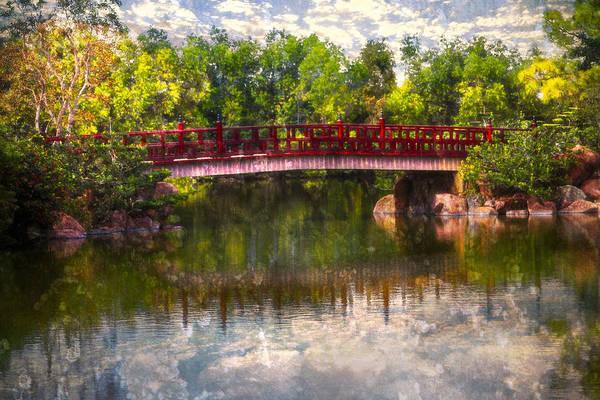 Boynton Photograph - Japanese Gardens Bridge by Debra and Dave Vanderlaan