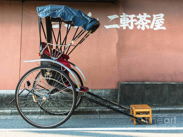 Photograph - Japanese Rickshaw In Kyoto by Didier Marti