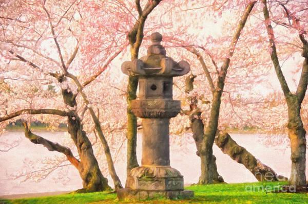 Photograph - Japanese Stone Lantern by Lois Bryan