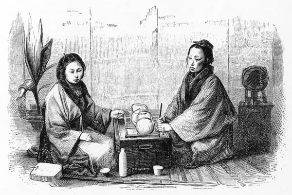 Wall Art - Drawing - Japanese Tea Ceremony (sado);  A Custom by Mary Evans Picture Library