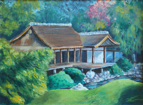 Philae Painting - Japanese Tea House by Joseph Levine