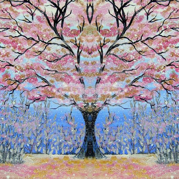 Cathy Painting - Japanese Tree Of Life by Cathy Jacobs