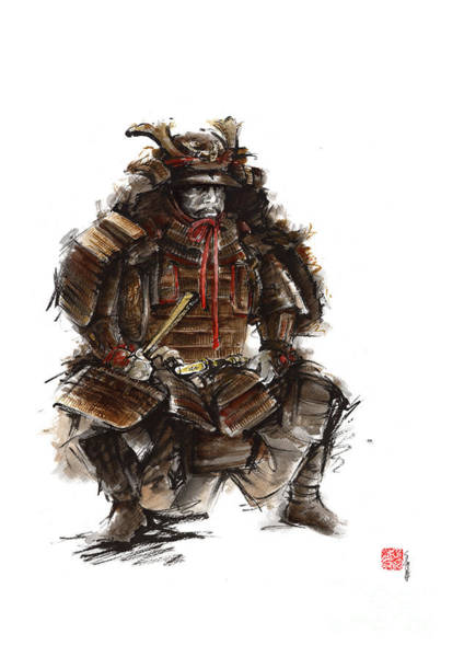 Wall Art - Painting - Japanese Warrior Armor. by Mariusz Szmerdt