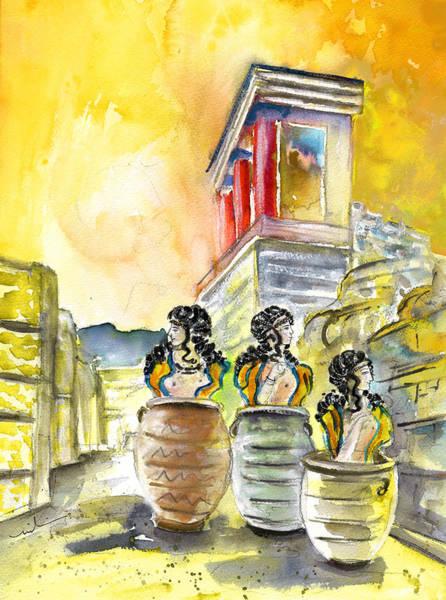 Genie Painting - Jar Genies In Knossos by Miki De Goodaboom