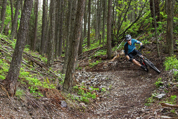 Jared Wall Art - Photograph - Jared Lynch Mountain Biking The North by Chuck Haney