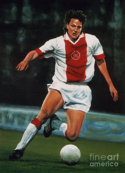 Wall Art - Painting - Jari Litmanen by Paul Meijering