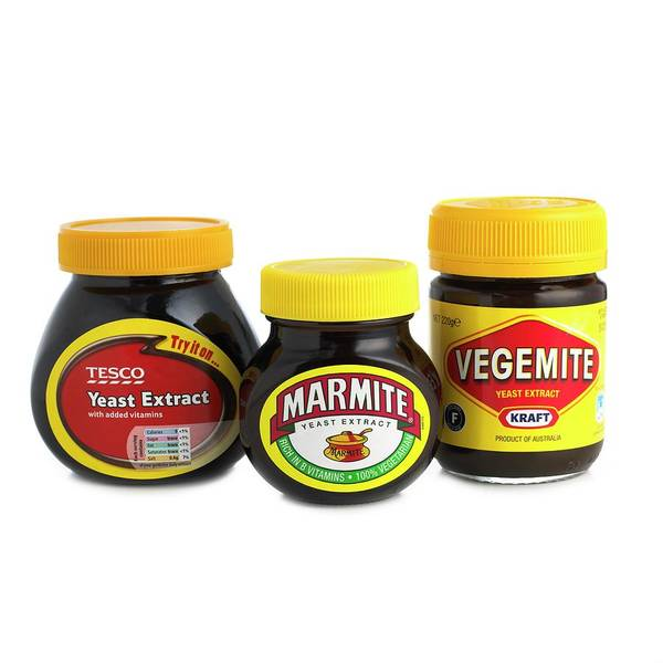 Branding Photograph - Jars Of Yeast Extract by Science Photo Library