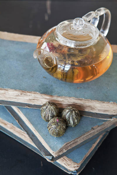 Jasmine Tea Photograph - Jasmine Pearl Tea Balls by Emma Gutteridge