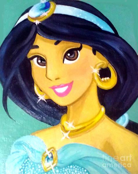 Genie Painting - Jasmine The Bride by Jin Kai