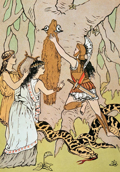 Woodland Drawing - Jason Seizing The Golden Fleece by English School