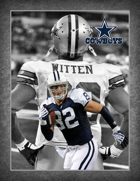 Cowboy Photograph - Jason Witten Cowboys by Joe Hamilton