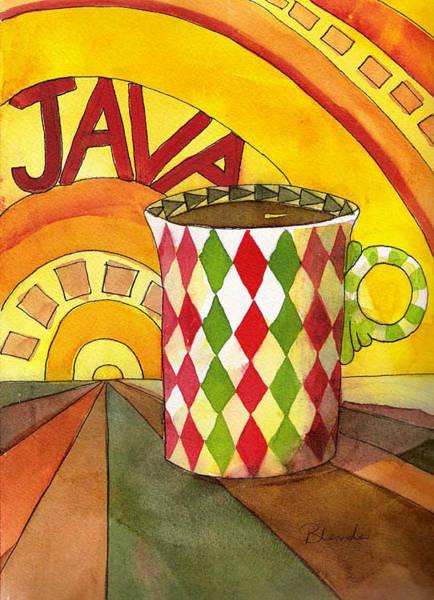 Java Painting - Java Cup Art  by Blenda Studio