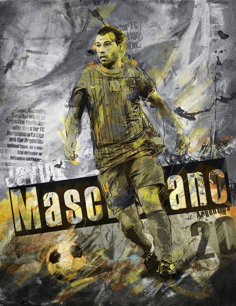 Premier League Wall Art - Painting - Javier Mascherano - C by Corporate Art Task Force