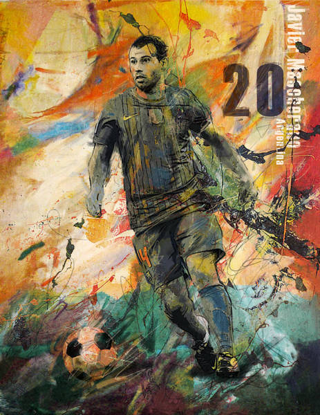 Wall Art - Painting - Javier Mascherano by Corporate Art Task Force