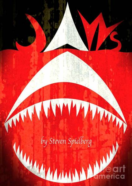 Steven Spielberg Painting - Jaws Minimalist Poster  by Stefano Senise