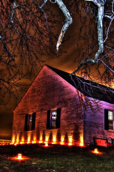 Dunkard Wall Art - Photograph - Jaws Of Death Or Haven Of Rest - The Dunker Church-a1 - Antietam Memorial Illumination by Michael Mazaika
