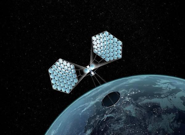 Solar Panels Photograph - Jaxa Solar Power Orbiter by Mikkel Juul Jensen