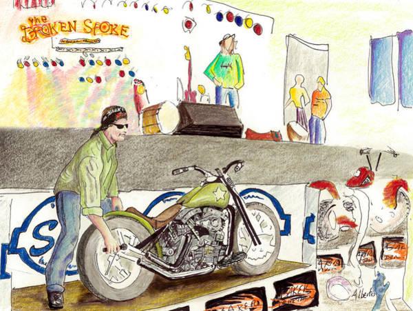Pan Head Painting - Jay Allen At The Broken Spoke Saloon by Albert Puskaric