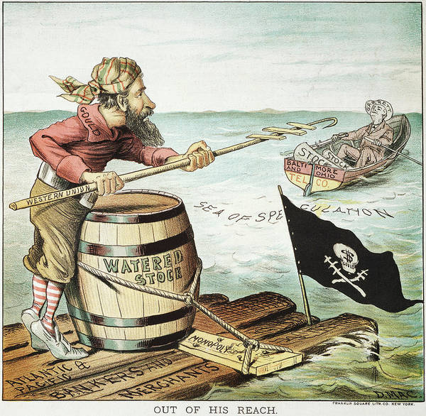 Political Cartoon Painting - Jay Gould Cartoon, 1885 by Granger