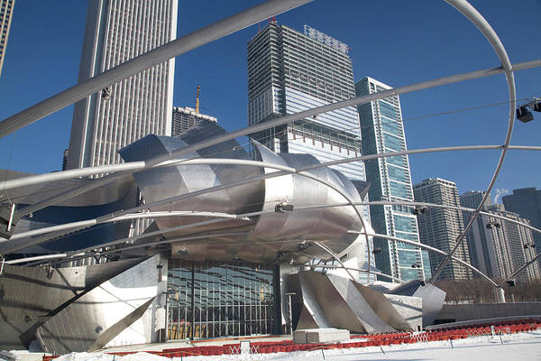 Millennium Park Photograph - Jay Pritzker Pavillion, With Web Of by Charles Cook