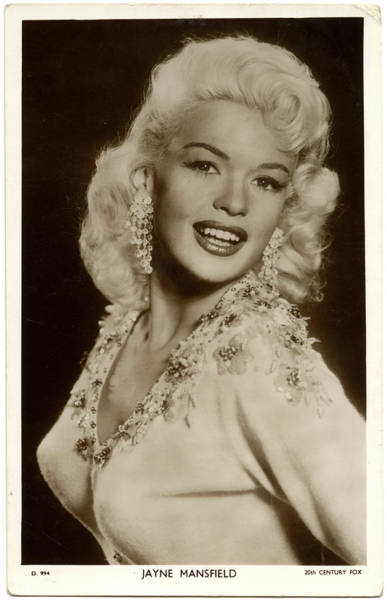 Wall Art - Photograph - Jayne Mansfield (1933 - 1967), (jayne by Mary Evans Picture Library