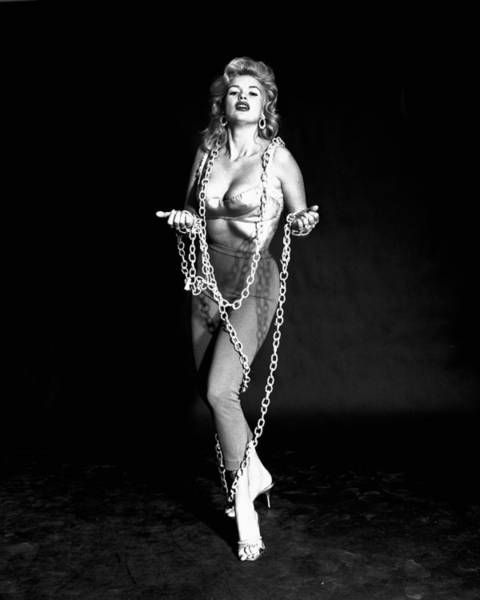 Bondage Wall Art - Photograph - Jayne Mansfield In Chains by Silver Screen