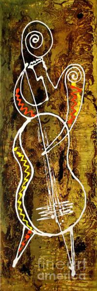 Wall Art - Painting - Jazz 3 by Leon Zernitsky