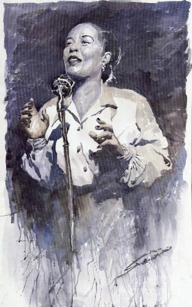 Wall Art - Painting - Jazz Billie Holiday Lady Sings The Blues by Yuriy Shevchuk