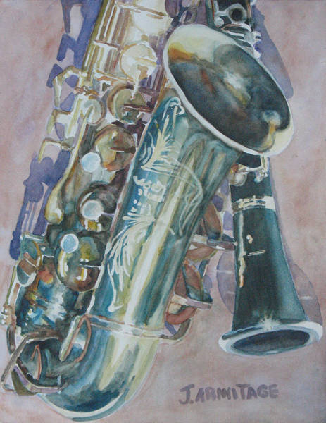 Wall Art - Painting - Jazz Buddies by Jenny Armitage