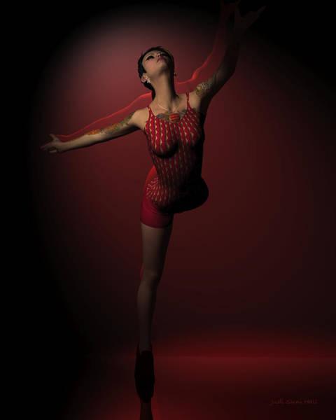 Digital Art - Jazz Dancer In Red 3 by Judi Suni Hall