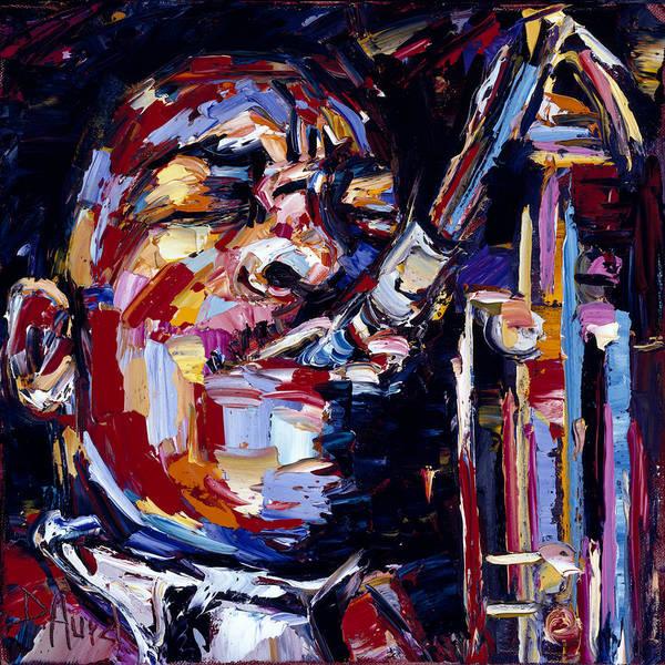 Wall Art - Painting - Jazz Face Series John Coltrane by Debra Hurd