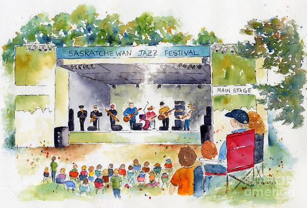 Painting - Jazz Festival by Pat Katz