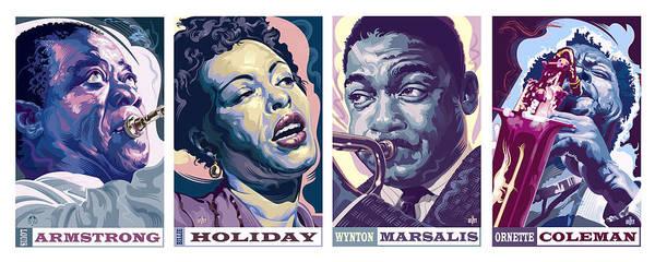Wall Art - Digital Art - Jazz Legends Part 2 by Garth Glazier