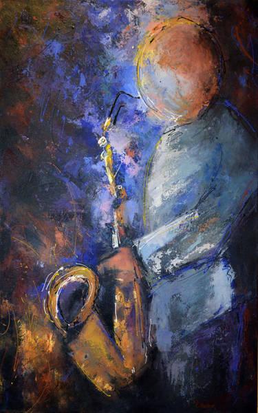 Sax Painting - Jazz Man by Kim Eshelman