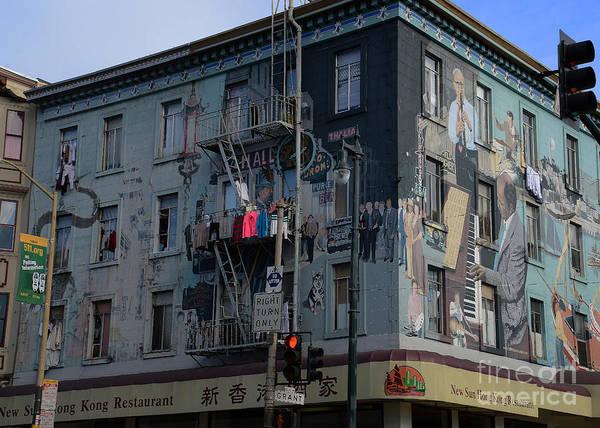 David Weber Photograph - Jazz Mural Building by David Bearden