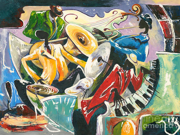 Wall Art - Painting - Jazz No. 3 by Elisabeta Hermann