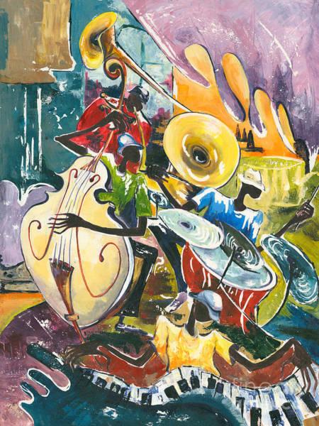 Rhythm Painting - Jazz No. 4 by Elisabeta Hermann
