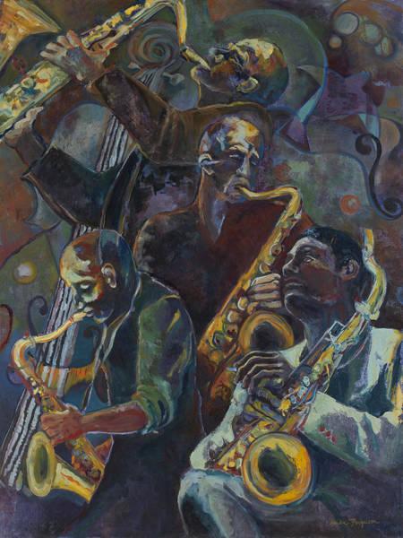 Sax Painting - Jazz Saxophone by Anika Ferguson