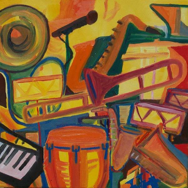 Conga Drum Painting - Jazz Squared by James Christiansen