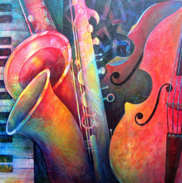 Wall Art - Painting - Jazz  by Susanne Clark