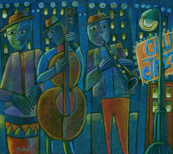 Neon Lights Mixed Media - Jazz Time At Club Jazz by Gerry High
