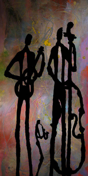 Sax Painting - Jazz Trio 2 by Rhodes Rumsey