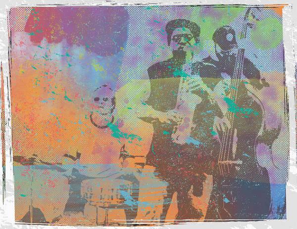 Jazz Trio Digital Art - Jazz Trio by Donna Cregar