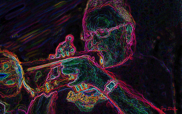 Jazz Trumpet Man Art Print