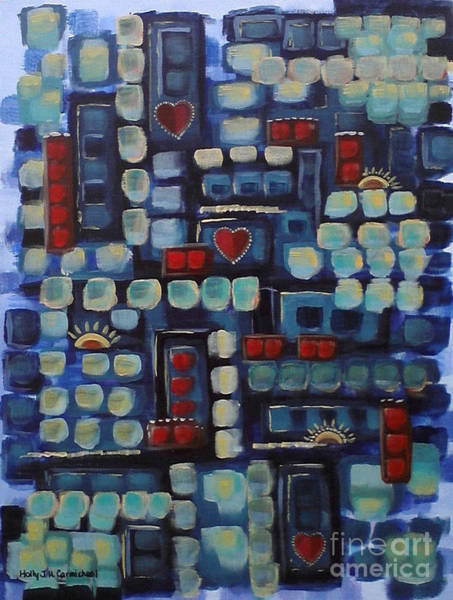 Painting - Jazzy Love by Holly Carmichael